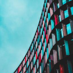freetoedit urban building colorfull mirrors