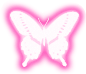 butterfly pink snapchat neon sign