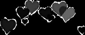 corazones corona sinfondo freetoedit