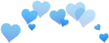 blue snapchat heart crown freetoedit