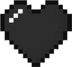 black heart tumblr pixel freetoedit