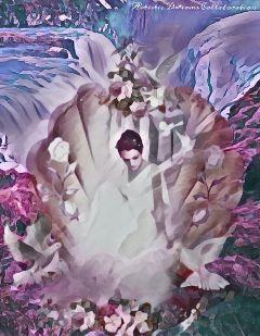 waterfall shell woman painteffect magiceffect freetoedit