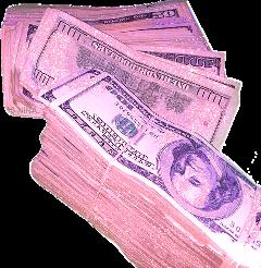 pink aesthetic money rack bills