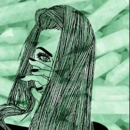 tumblr green girl indie lockscreen freetoedit