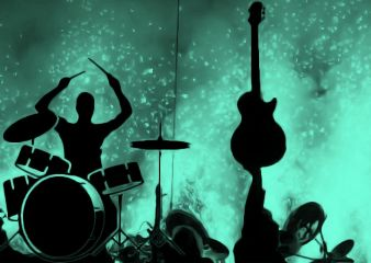 freetoedit band concert turquoise guitar