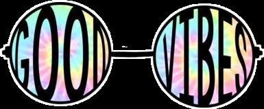 goodvibes glasses adesivo tumblr tiedye