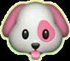 dog pink emoji freetoedit
