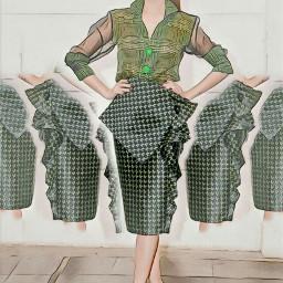 freetoedit fashion woman clonetool green