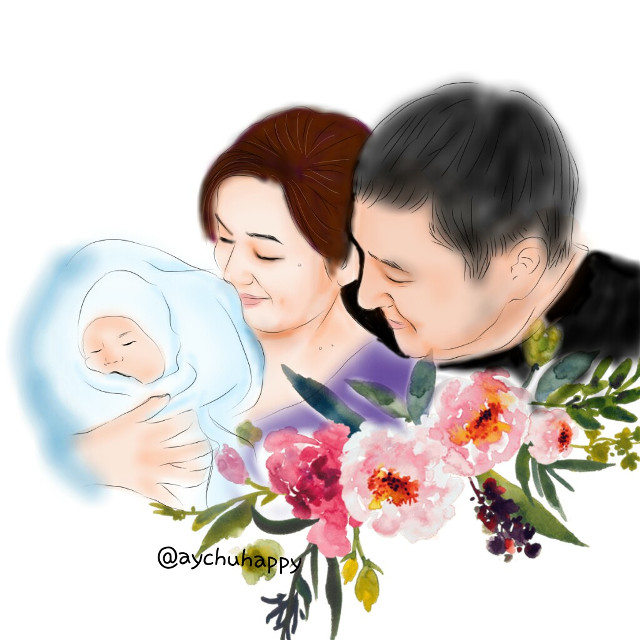 #family #baby #drawing #love #couple