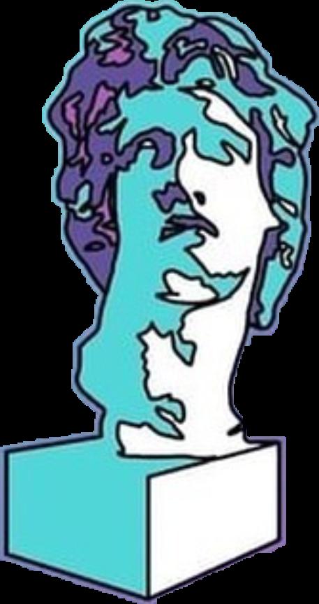 #aesthetic #sculpture #tumblr #sadboys #blue #purple