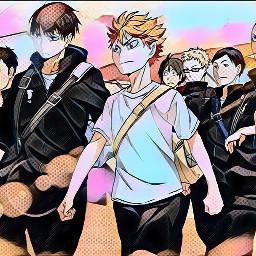 anime haikyuu!! cuteanimeboys magiceffect colorful