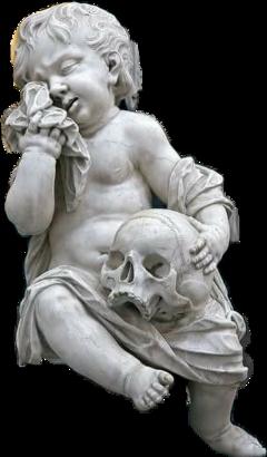 blackandwhite angel skull tears sad