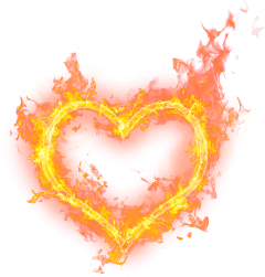 fire heart love freetoedit