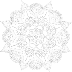 mandala indian white doily iconoverlays