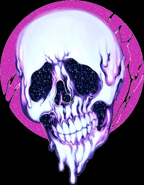 Skulls Tumblr Aesthetic: Skull Skeleton Trippy Psychedelic Aesthetic Tumblr