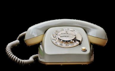 ftestickers retro vintage 70s telephone