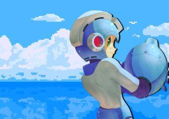 megaman capcom rockman blue pastelblue freetoedit