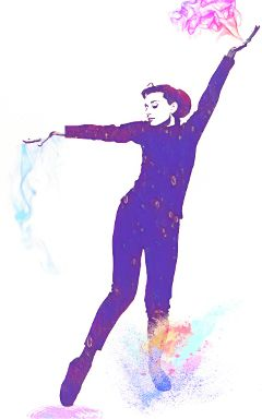 freetoedit dance audreyhepburn color funnyface
