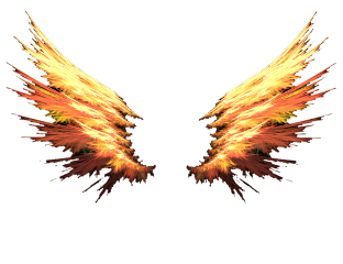 fire wings red orange colorful