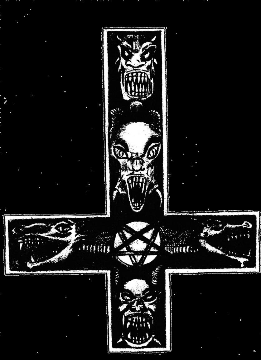 Cross simbolic hungarian satanic witchcraft worship cross sticker biocorpaavc Choice Image