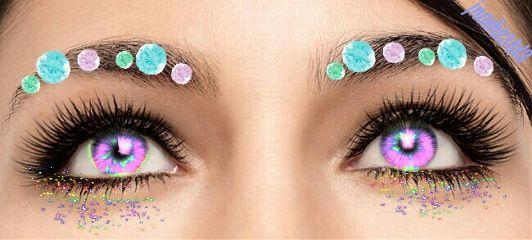 prismeffect eyes gems colorful purple freetoedit