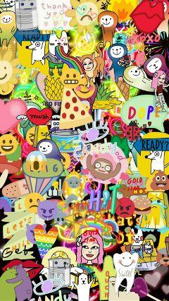 freetoedit summerwallpaper emojiwallpaper colorful cute