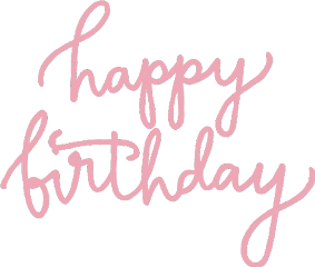 happybirthday happyday birthday pink words