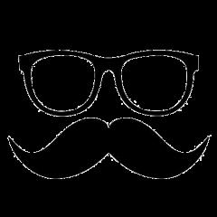 mustache glasses freetoedit
