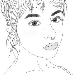 outline outlinetumblr outlinegirl tumblr drawing freetoedit