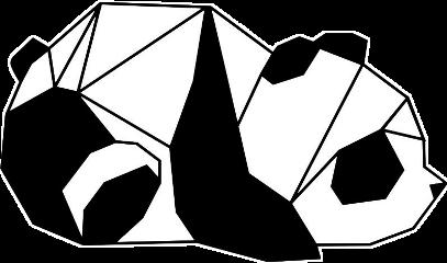 panda pixel pixeles pixels white