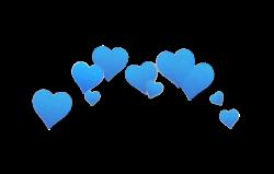 blue blu heart png overlay