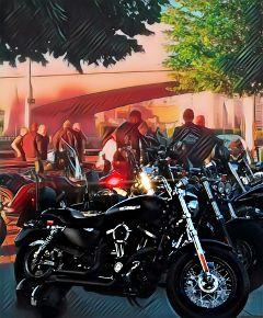 freetoedit motorbike harleydavidson people gatherings