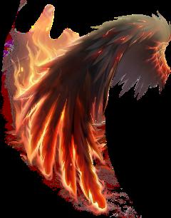 stickers wings firewings freetoedit