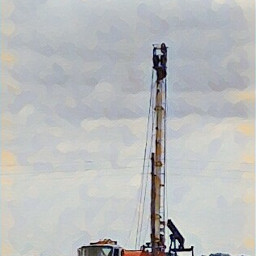 oil exploration drilling truck jobsite
