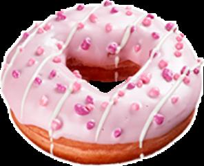 donut pink food freetoedit