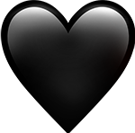 black heart emoji love freetoedit