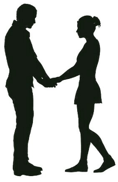couple silhouette freetoedit