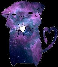cat galaxy love lol freetoedit