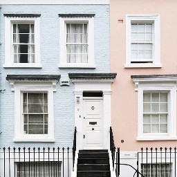 aesthetic weheartit house pink blue freetoedit