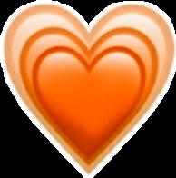 heart orange オレンジ freetoedit
