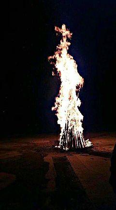 fire campfire photography portrait nightphotography freetoedit