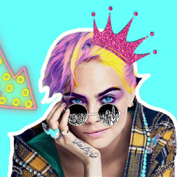 freetoedit queen arrow caradelevingne