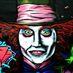 freetoedit madhatter graffiti streetart streetartphotography