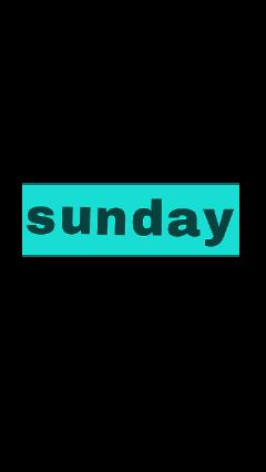 sunday freetoedit