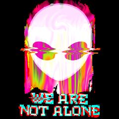 alien glitch notalone freetoedit