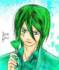sogghynjodonati demon greenhair drawing boy
