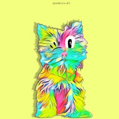 mysticker colorbrightmagiceffect colorbright dog colorful freetoedit