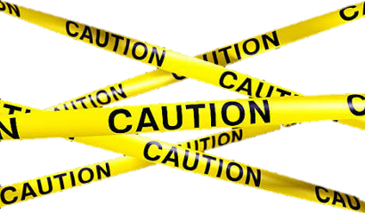 caution sticker cutout police keepout