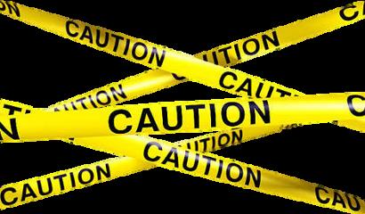 caution sticker cutout police keepout