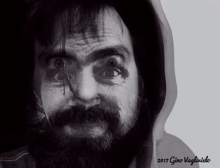 freetoedit charlesmanson psycho portrait blackandwhite